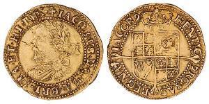 1/2 Laurel Королівство Англія (927-1649,1660-1707) Золото Яків I (1566-1625)