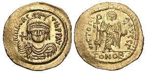 1 Solidus Byzantine Empire (330-1453) Gold Maurice Tiberius (539-602)
