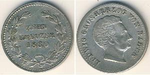 10 Kreuzer 巴登大公國 (1806 - 1918) / 联邦州 (德国) 銀 路德维希一世 (巴登)