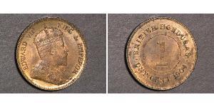 1 Цент Британский Гондурас (1862-1981)  Едвард VII (1841-1910)