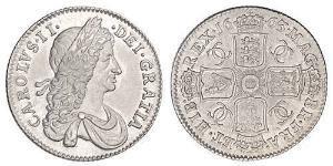 Шилінг Королівство Англія (927-1649,1660-1707) Срібло Карл II (1630-1685)