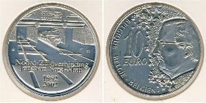10 Euro Belgio Argento
