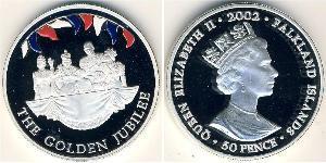 50 Penny 福克兰群岛 銀 伊丽莎白二世 (1926-)