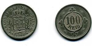100 Рейс Королевство Португалия (1139-1910) Никель/Медь Карлуш I король Португалии(1863-1908)