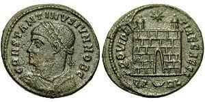 1 Follis /  AE3 Römische Kaiserzeit (27BC-395) Bronze Constantius II(317 - 361)