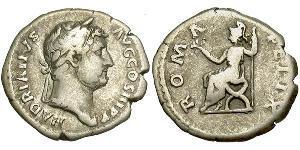 1 Denario Imperio romano (27BC-395) Plata Adriano  (76 - 138)
