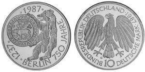 10 Mark Geschichte der Bundesrepublik Deutschland (1949-1990) Silber