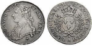 1/2 Ecu Kingdom of France (843-1791) Silver Louis XVI of France (1754 - 1793)