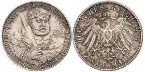 3 Mark Sachsen-Weimar-Eisenach (1809 - 1918) Silber