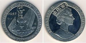 1 Krone Isle of Man Copper/Nickel Elizabeth II (1926-)