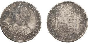 8 Real Empire espagnol (1700 - 1808) Argent Charles III d