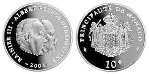 10 Євро Монако Срібло