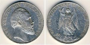 1 Thaler Kingdom of Württemberg (1806-1918) Silver