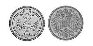 2 Heller 奥匈帝国 (1867 - 1918) 青铜