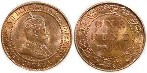1 Cent Canada Rame/Zinco/Tin Edoardo VII (1841-1910)