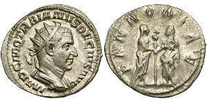 1 Antoninian Römische Kaiserzeit (27BC-395) Silber Trajan Decius (201-251)
