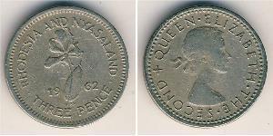 3 Penny Southern Rhodesia (1923-1980) Cuivre/Nickel