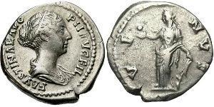 1 Denario Imperio romano (27BC-395) Plata Faustina II (130-175)