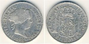 10 Rial Kingdom of Spain (1814 - 1873) Argent