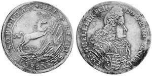1 Thaler Principality of Anhalt-Köthen (1603 -1853) 銀