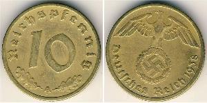 10 Reichpfennig Troisième Reich (1933-1945) Laiton