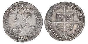 1 Groat Kingdom of England (927-1649,1660-1707) Silver Mary I of England (1516-1558)