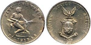 5 Centavo Philippines Copper/Nickel/Zinc