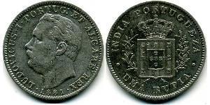 1 Рупия Португальская Индия (1510-1961) Серебро