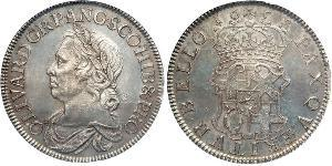 Crown Commonwealth of England (1649-1660) Silber