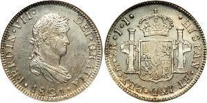 2 Real Kaiserreich Mexiko (1821 - 1823) Silber Ferdinand VII. von Spanien (1784-1833)