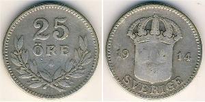 25 Эре Швеция Серебро