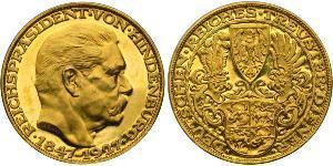 5 Mark 魏瑪共和國 (1919 - 1933) 金 保罗·冯·兴登堡 (1847 - 1934)