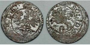 2 Denarius / 1 Solidus 立陶宛大公国 (c. 1236 - 17951) Billon Sigismund III of Poland
