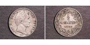 1/2 Gulden Reino de Baviera (1806 - 1918) Plata Luis I de Baviera(1786 – 1868)