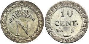 10 Centime 法兰西第一帝国 (1804 - 1814)  拿破仑一世(1769 - 1821)