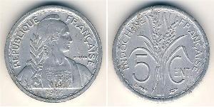 5 Cent French Indochina (1887-1954) Aluminium