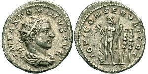 1 Антониниан Римская империя (27BC-395) Серебро Гелиогабал (203-222)