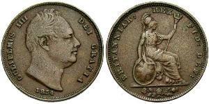 1 Farthing 英国 銅 威廉四世 (英國)