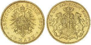 10 Mark States of Germany Oro