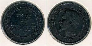 10 Sent Segundo Imperio francés (1852-1870) Bronce Napoleon III (1808-1873)