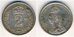 2 Penny 英国 銀