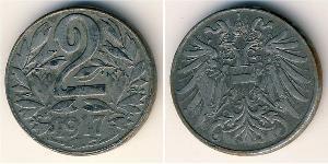 2 Heller Austria-Hungary (1867-1918) Steel