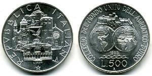 500 Lira 意大利 銀