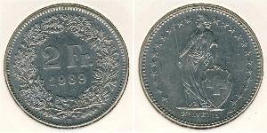 2 Franc Suisse Cuivre/Nickel