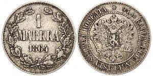 1 Mark Granducato di Finlandia (1809 - 1917) Argento Alessandro II (1818-1881)