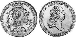 1/2 Талер Аугсбург (1276 - 1803) Срібло Francis I, Holy Roman Emperor (1708-1765)