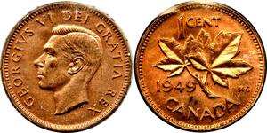 1 Cent Canadá Bronce Jorge VI (1895-1952)