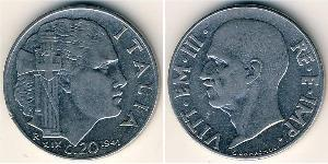 20 Centesimo Kingdom of Italy (1861-1946) Acero inoxidable