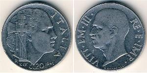 20 Сентесімо Kingdom of Italy (1861-1946) Нержавіюча сталь