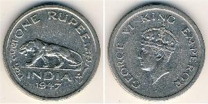 1 Rupee British Raj (1858-1947) Nickel George VI (1895-1952)